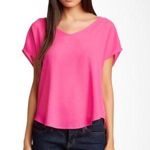 3/$35 Lush Pink V-Neck Top